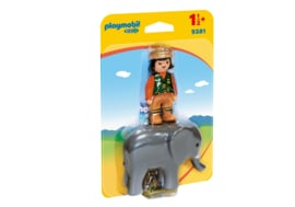1.2.3. Playmobil 9381 - Dierenverzorgster met olifant