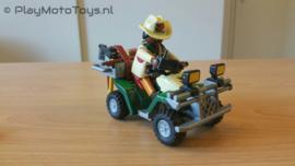 Playmobil 4176 - Onderzoeker met quad,  2ehands