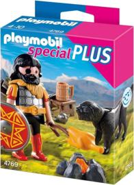 Playmobil 4769 - Barbaar met Kampvuur en Hond