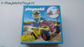 Playmobil 4425 - Gele Race quad met pullbackmotor