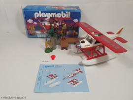 Playmobil 3866 - Avonturen watervliegtuig, gebruikt met doos