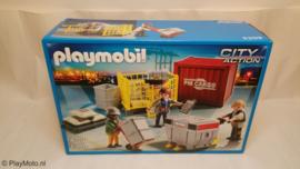 Playmobil 5259 - Cargoteam met lading