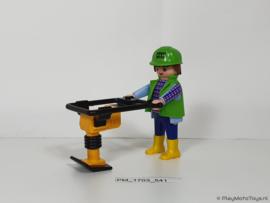 Playmobil 3271 - Bouwvakker met trilplaat, 2ehands