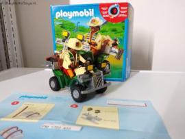Playmobil 4176 - Onderzoeker met quad in doos,  2ehands
