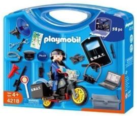 Playmobil 4218 - Meeneemkoffer SWAT Politiemotor