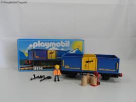 Playmobil 4114 - Open vrachtwagon met doos (gebruikt)