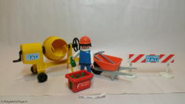 Playmobil 3562 - Bouwvakker met cementmixer, gebruikt