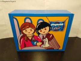 Playmobil Geschenkset 2005 - City Life Coffee set met porseleinen mok & 2 zilveren lepels