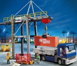 Playmobil 9540 - Electrische Containerkraan met Vrachtwagen (exclusive set)