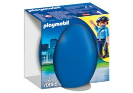 Playmobil 70085 - Blauw Paasei, Agent met Politiehond