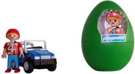 Playmobil 4924b - Groen Paasei, jongen met blauwe auto