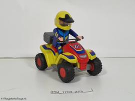 Playmobil 4425 - Gele Race quad met pullbackmotor, gebruikt