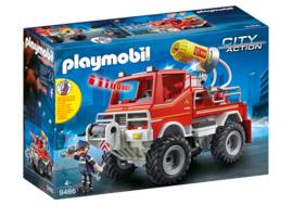 Playmobil 9466 - Brandweer terreinwagen met waterkanon, licht & geluid