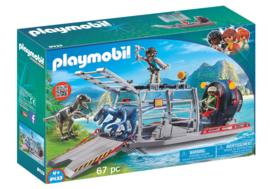 Playmobil 9433 - Luchtkussenboot met dinokooi