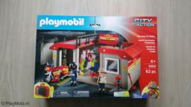 Playmobil 5663 - Meeneem Brandweer kazerne met brandweermotor