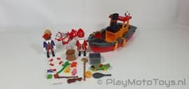 Playmobil 5206 - De Stoomboot van Sinterklaas, gebruikt.