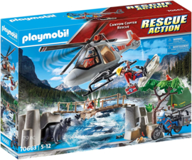 Playmobil 70663 - Canyon Copter Rescue. USA-Exclusive