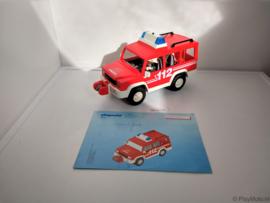 Playmobil 3181 - Brandweer Commandant met jeep, 2ehands