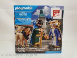 Playmobil 70315 - Hertog Heinrich & Mathilde, en de leeuw  - Promo