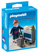 Playmobil 9151 - Air France Stewardess  - Promo