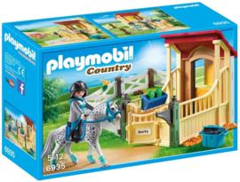 Playmobil 6935 - Appaloosa met paardenbox