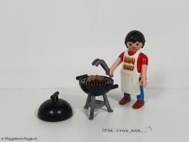 Playmobil 4649 - BBQ Chef. 2e hands.
