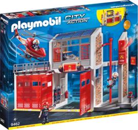 Playmobil 9462 - Grote brandweerkazerne met helicopter