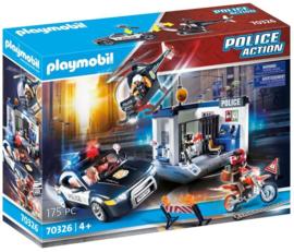 Playmobil 70326 - Politiebureau met helikopter, politieauto en motor