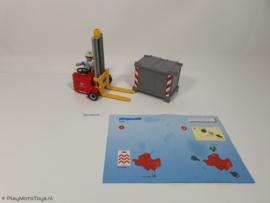 Playmobil 4476 - Mini heftruck met palletkist, gebruikt