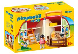 1.2.3. Playmobil 70180 - Mijn meeneem manege