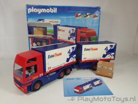Playmobil 4323 - Truck and Trailer, gebruikt met doos.