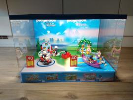 Playmobil 40 jarig jubileum grote winkel display, met licht en draaiplateau (sets 5169 & 5456)