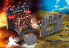 Playmobil 9841 - Uitbreiding gevel met gevangenis en doorbreekmuur voor Kasteel van de Burnham Raiders