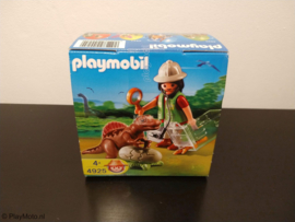 Playmobil 4925 - Onderzoeker met Baby-Spinosaurus in groen Paasei