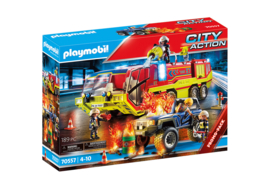 Playmobil 70557 - Promopak Brandweerwagen met licht en geluid & Jeep