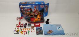 Playmobil 5206 - De Stoomboot van Sinterklaas, gebruikt met doos.