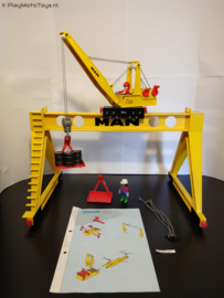 Playmobil 4210 - MAN Portaalkraan met handleiding (gebruikt)