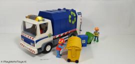 Playmobil 4129 - Vuilniswagen met werkend zwaailicht,  gebruikt.