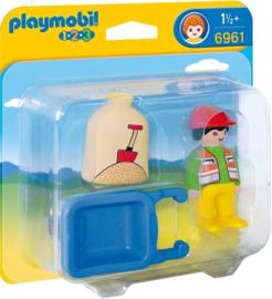 1.2.3. Playmobil 6961 - Arbeider met kruiwagen