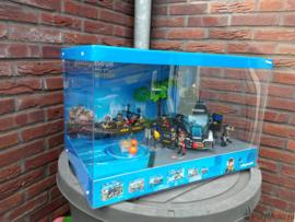 Playmobil SIE - Grote display met licht & draaiplateau (sets 9360, 9362 & 9365)