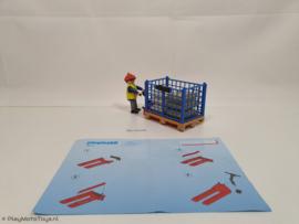 Playmobil 4474 - Havenwerker met pallet en lading, gebruikt