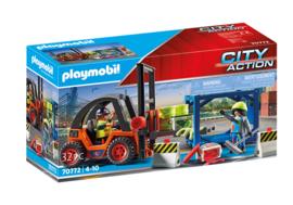 Playmobil 70772 - Vorkheftruck met lading