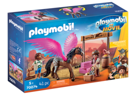 70074 - PLAYMOBIL: THE MOVIE Marla en Del met gevleugeld paard