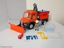 Playmobil 4046 - Unimog strooiwagen met sneeuwploeg, gebruikt