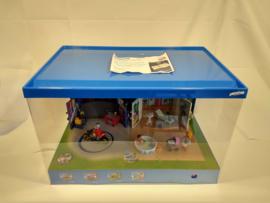 Playmobil speelbox 6157 & 6159 grote display met licht en draaiplateau