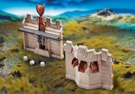 Playmobil 9839 - Uitbreiding muur en katapult voor de Grote burcht van de Novelmore ridders
