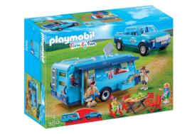 Playmobil 9502 - FunPark Pickup met caravan