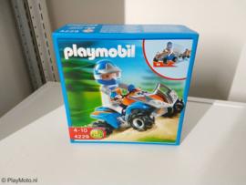 Playmobil 4229 - Blauwe Race quad met pullbackmotor