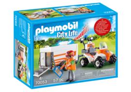 Playmobil 70053 - Eerste hulp quad met trailer