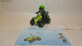 Playmobil 4427 - Zwarte Race quad met pullbackmotor, gebruikt